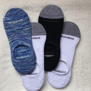 (4)BOMBAS Women's No Show Cushioned Socks